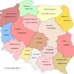 Politische Landkarte von Polen mit Woiwodschaften