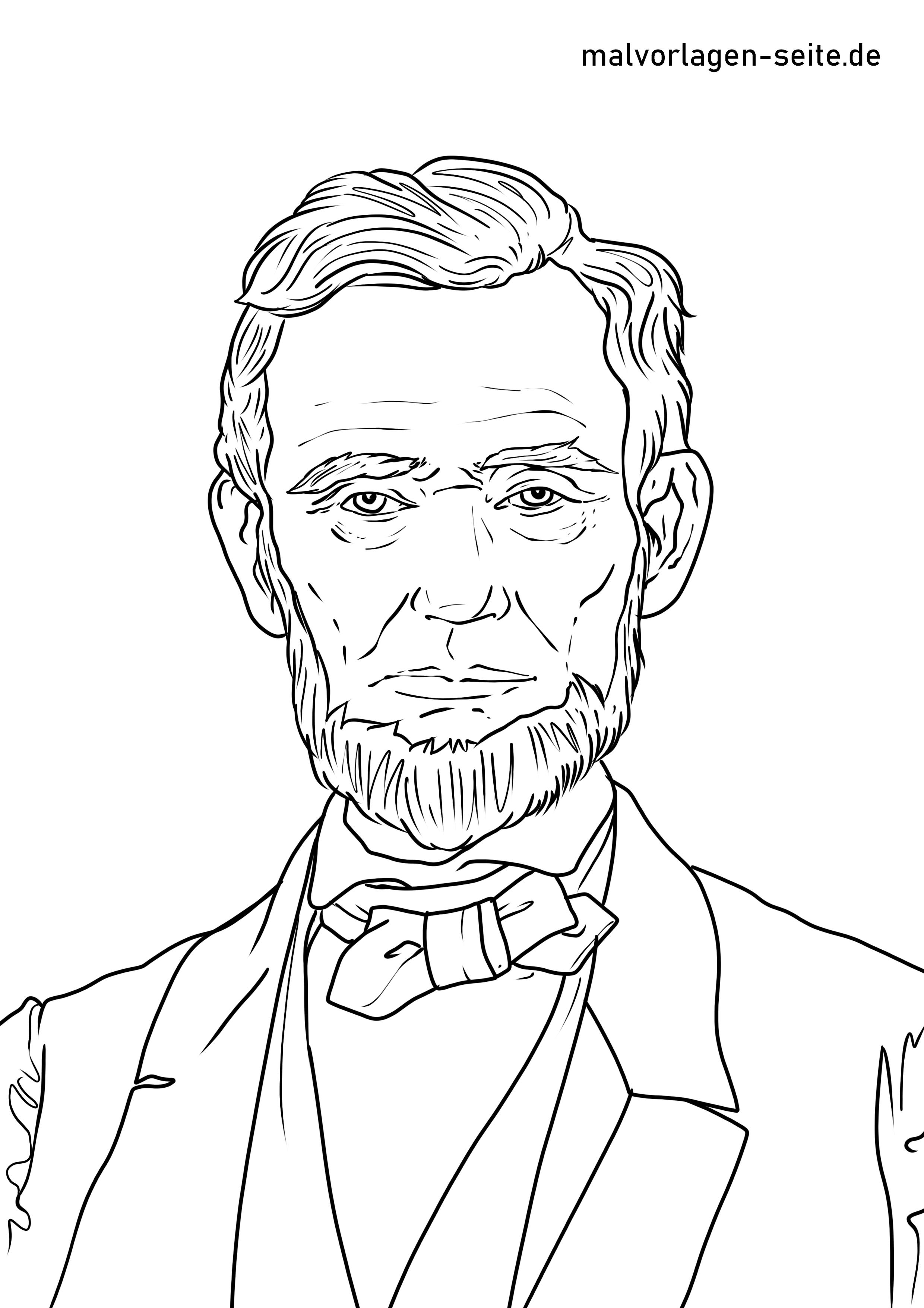 Malvorlage Abraham Lincoln Personlichkeiten Kostenlose Ausmalbilder