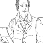 Coloring page Johann Wolfgang von Goethe | Personalities