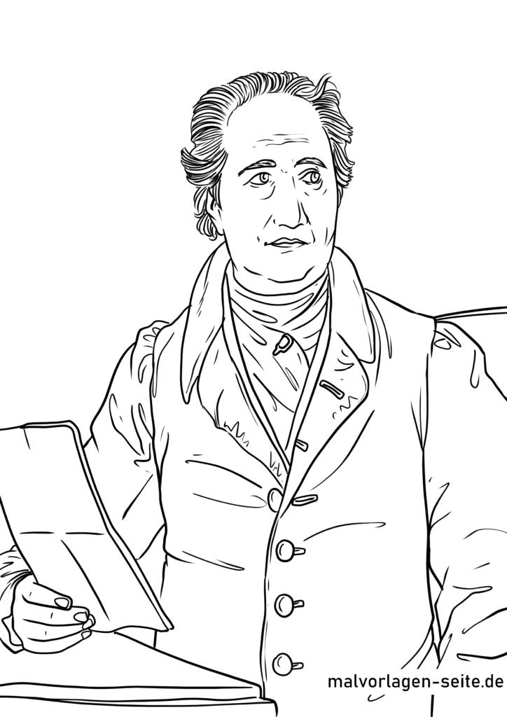 Malvorlage Johann Wolfgang von Goethe
