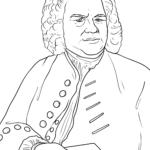 Coloring page Johann Sebastian Bach | Personalities