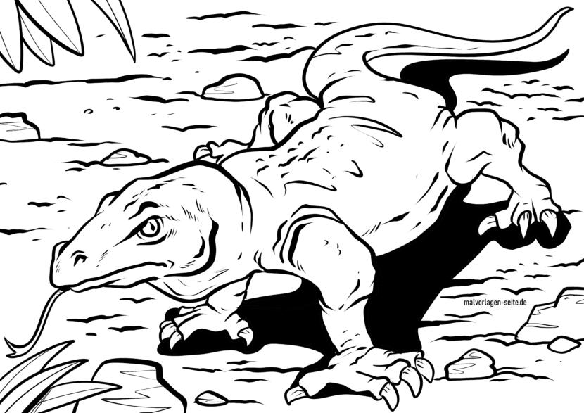 Bojanje stranice Komodo zmaj