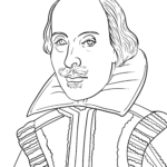 Coloriage William Shakespeare | Personnalités