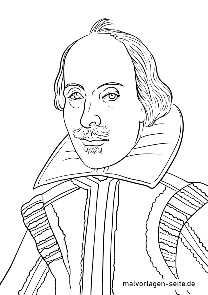 Koloriga paĝo William Shakespeare