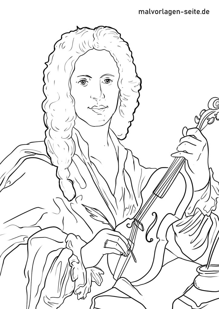 Värviline leht Antonio Vivaldi