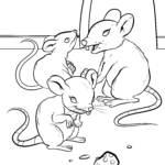 Coloring page mouse | Animals