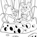 Coloriage souris