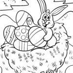Malvorlage Osternest | Ostern