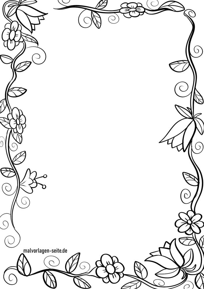 Rahmen Blumenranke