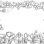 Rahmen Blüten