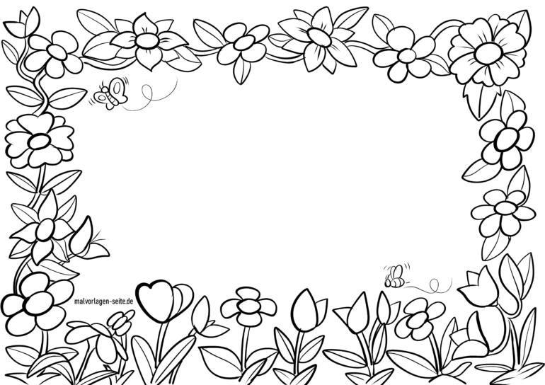 Rahmen aus Blüten