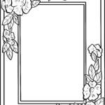 Color frame flowers