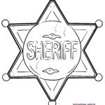 Coloring page sheriff star | wild West