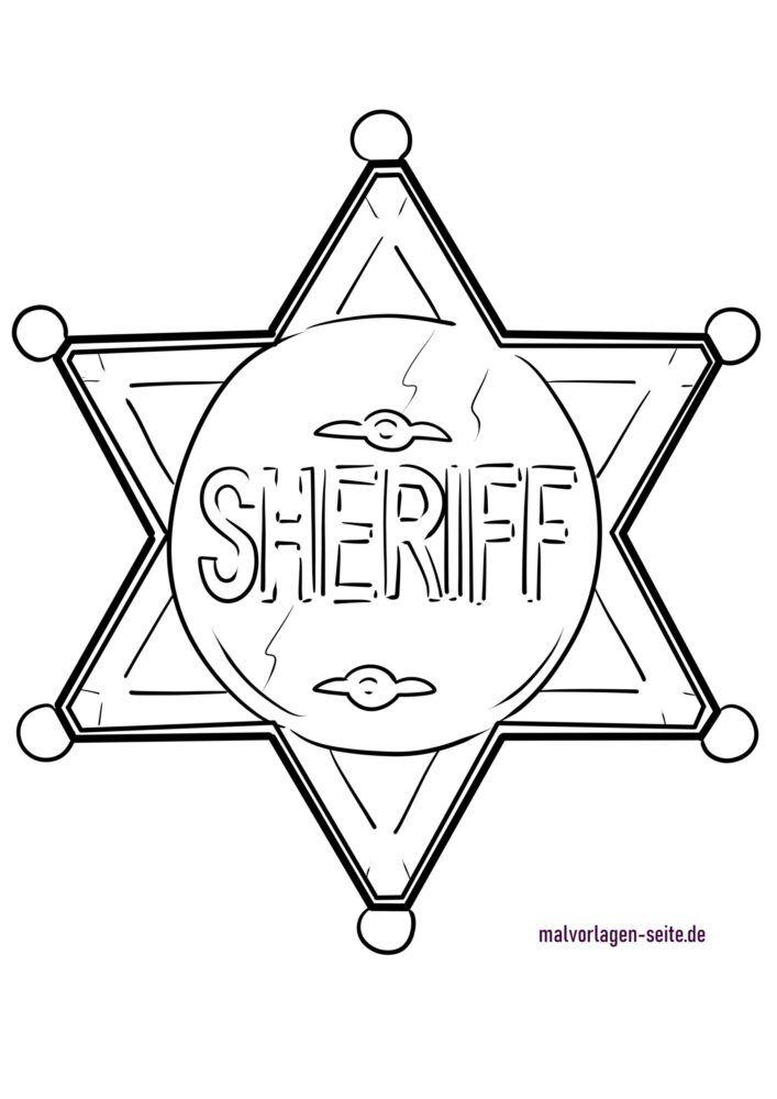 Bojanje stranice šerifska zvijezda