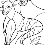 Capricorn zodiac sign - coloring zodiac signs