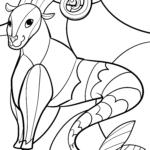 Sternzeichen Steinbock - Tierkreiszeichen ausmalen
