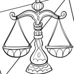 Libra zodiac sign - coloring zodiac signs