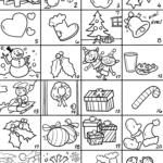 Advent calendar template for handicrafts