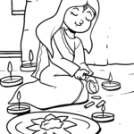 Coloring page Diwali | public holidays