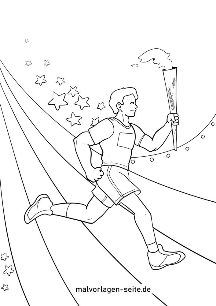 Bojanje stranica nositelj baklji Olimpijskih igara