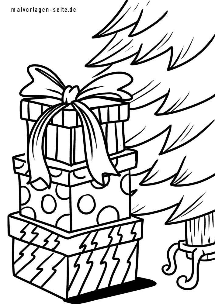 Coloriage Cadeaux De Noel Coloriages Gratuits