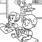 Coloring page healthy breakfast | eat