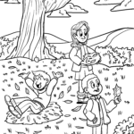 Coloring page autumn seasons