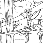 Coloring page climbing park climbing park | leisure