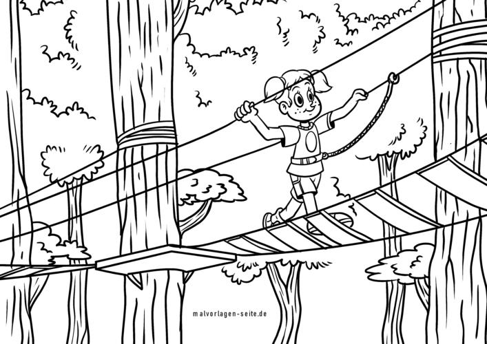 Coloring page climbing garden