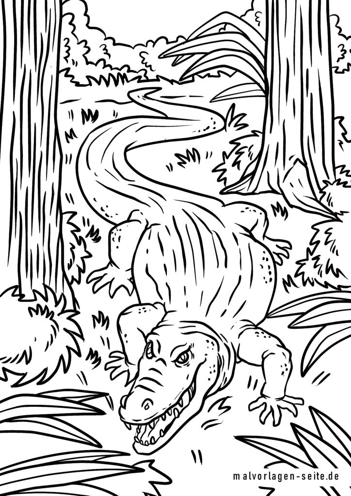 malvorlage krokodil  tiere  kostenlose ausmalbilder