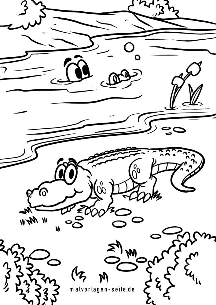 Bojanje stranice krokodili