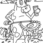 Coloring page cow | Cows