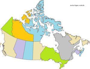 Landkarte Kanada