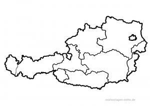 Kort over Østrig til mindre børn