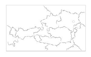 Kort over Østrigs føderale stater