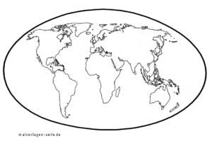 Landkarte der Welt / Weltkarte für kleinere Kinder