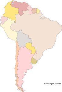 Poliitsche Landkarte Südamerika