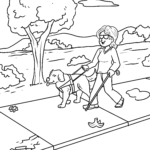 Coloring page guide dog - dogs
