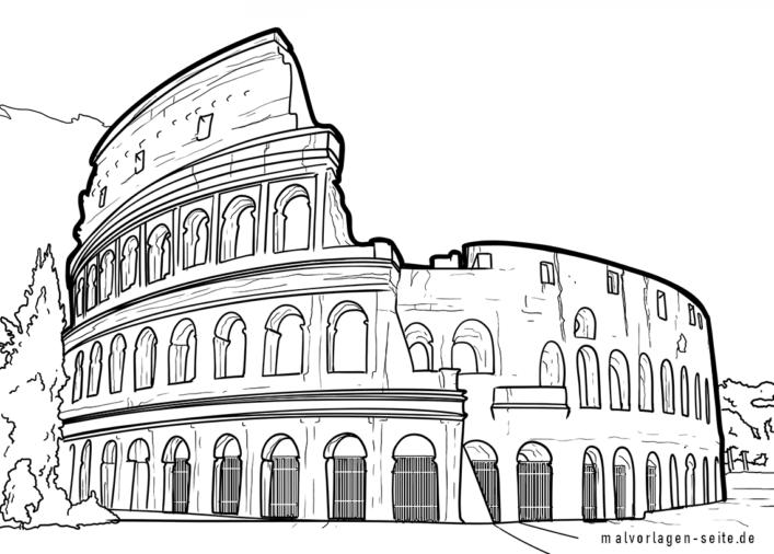 Malvorlage Colosseum in Rom