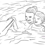 Coloring page dolphin therapy | Dolphin