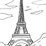 Eiffelturm ausmalen für Kinder