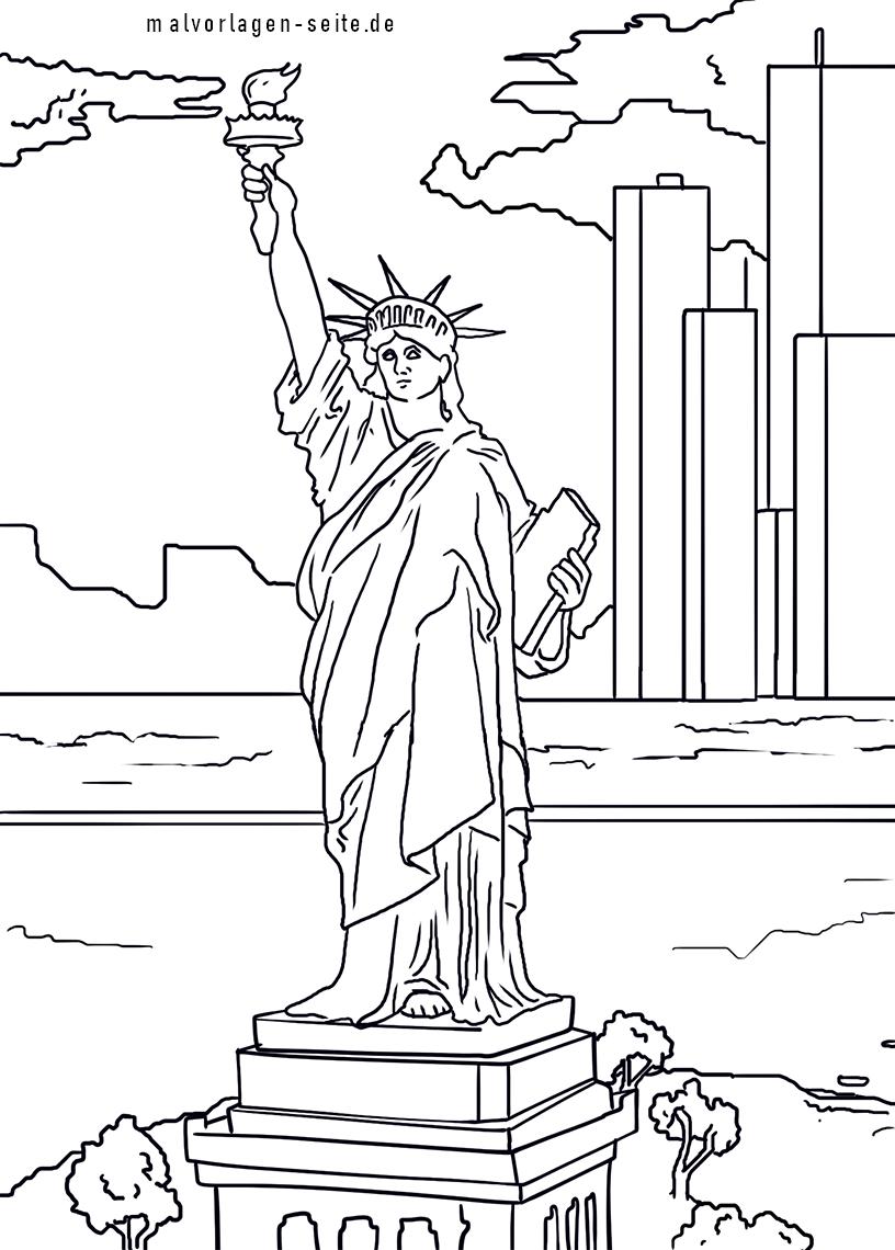 Malvorlage Freiheitsstatue New York
