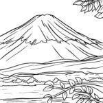 Malvorlage Fujijama - Mount Fuji