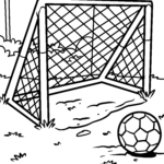 Coloring page soccer goal | Sports
