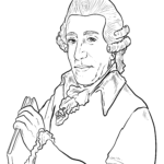 Coloring page Joseph Haydn | Personalities