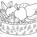 საღებარი გვერდის ხილის კალათა | ხილის ჭამა