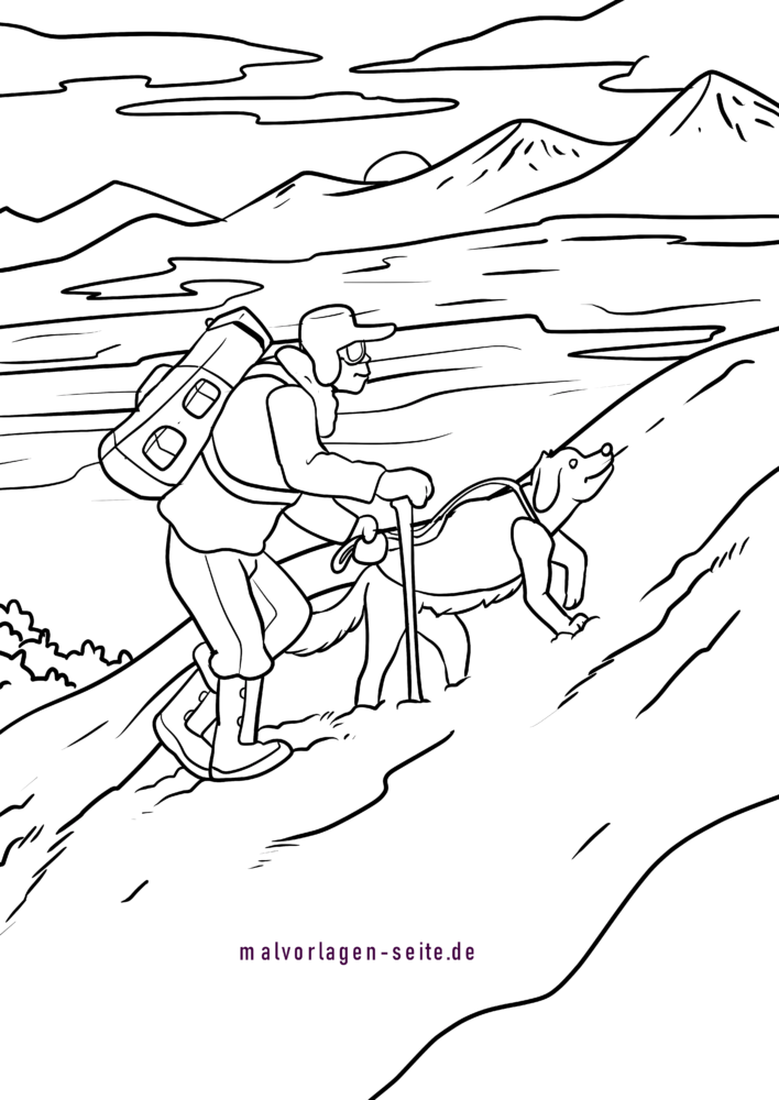 Coloring page rescue dog