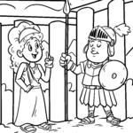 Malvorlage Römer Kinder | Geschichte