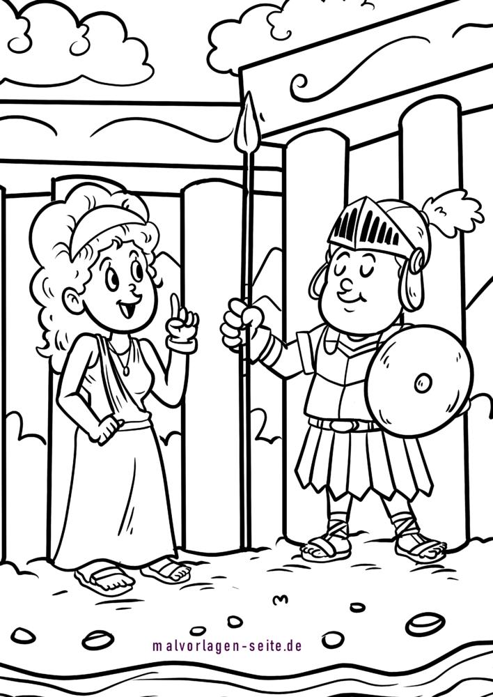 Coloring page Romans children