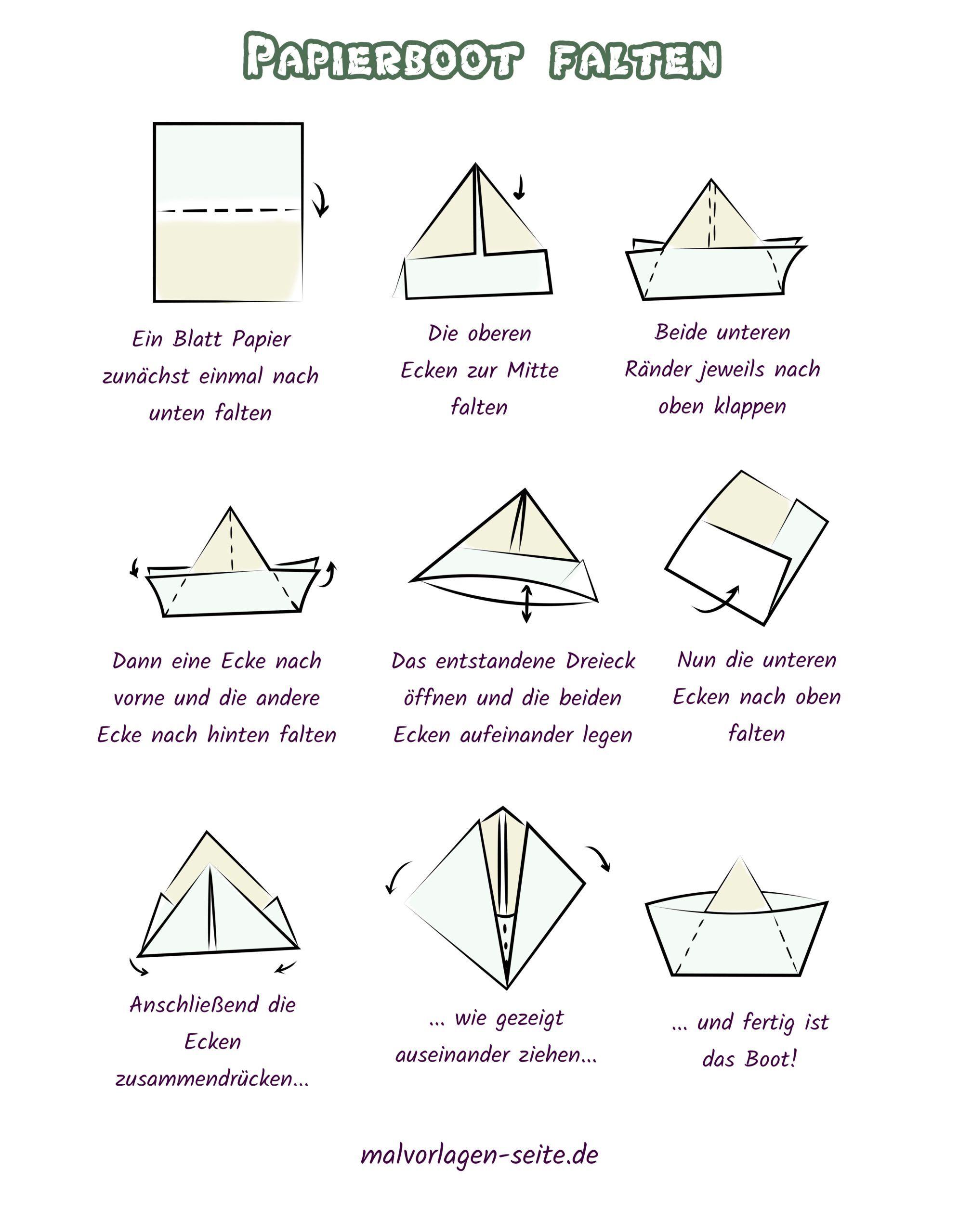 Plier Le Bateau En Papier Bateau En Papier Faisant Des Instructions Gratuites